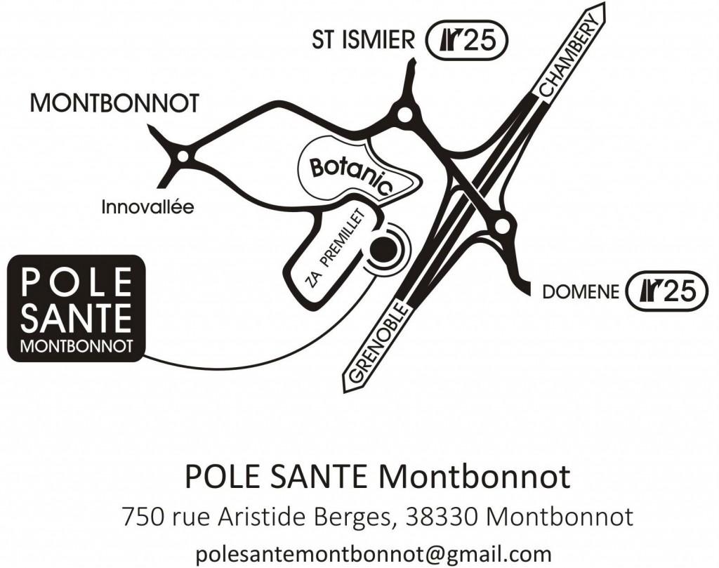 Accès au Pôle Santé de Montbonnot-St-Martin
